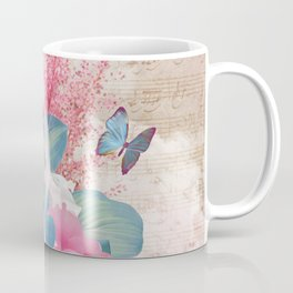 Floral Guitar Coffee Mug