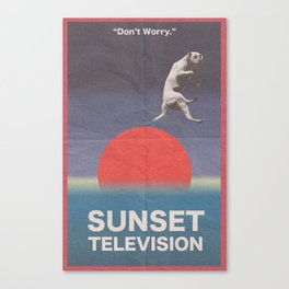 Sunset Television Poster Canvas Print