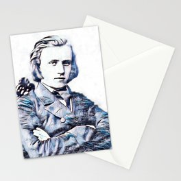 Johannes Brahms (1833 – 1897) in 1853 (3) Stationery Cards