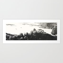 Lonely View Art Print