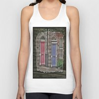 doors Tank Tops featuring Dublins Doors by Christine Workman