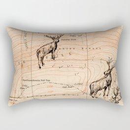 Stags walking the map Rectangular Pillow