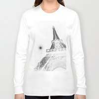 eiffel Long Sleeve T-shirts featuring Eiffel by Envibe Photography