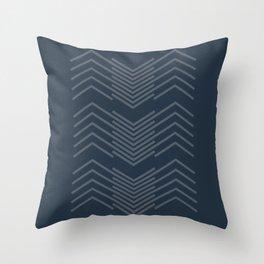 Blue Zags Throw Pillow