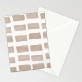 Brush Strokes Horizontal Lines Nude on Off White Stationery Cards