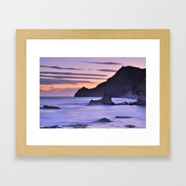 """Purple sea"" Framed Art Print"
