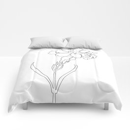 Carnation Lines Comforters