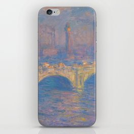 "Claude Monet ""Waterloo bridge"" iPhone Skin"