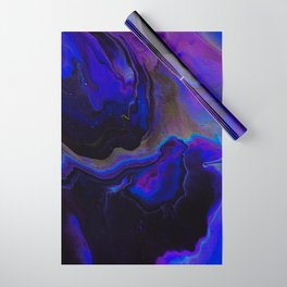 Dark Purple Blue Galaxy - Midnight Shades Wrapping Paper