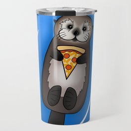 Sea Otter with Pizza Travel Mug
