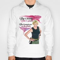 stargate Hoodies featuring She's Beauty, She's Grace, She'll Punch You In The Face by nubbinsammy