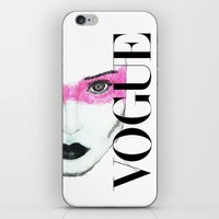 vogue iPhone & iPod Skins featuring Vogue by Maca