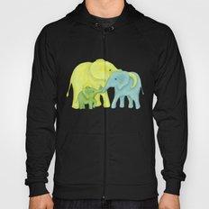 Elephant Family of Three Hoody