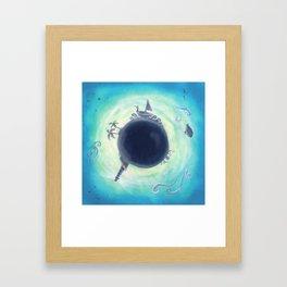 Planetone Blue Framed Art Print