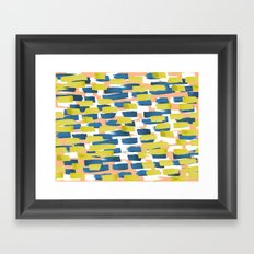 beach stripe Framed Art Print