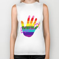 equality Biker Tanks featuring Equality by quality products