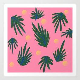 Leaf design Art Print