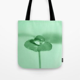 Clover dew drop Tote Bag