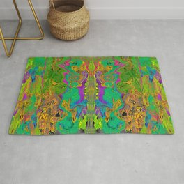 Twisted Bug Face (Light) (Psychedelic) Rug