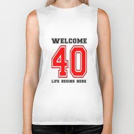 Life begins at Forty Biker Tank