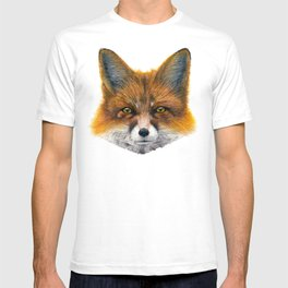 Fox face - Painting in acrylic T-shirt