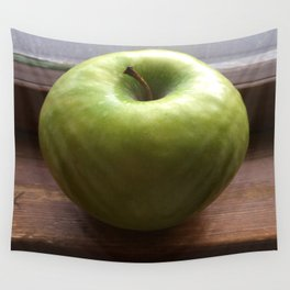Apple In The Window Wall Tapestry