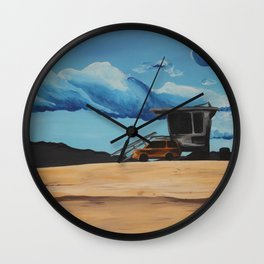 Beach Driving Wall Clock