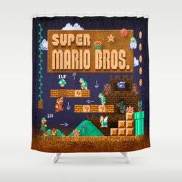 Mario Super Bros Shower Curtain