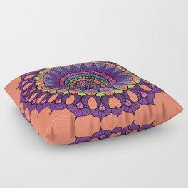 Groovy Dayglo Boho Mandala Floor Pillow