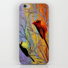 Birds on the birch tree iPhone & iPod Skin