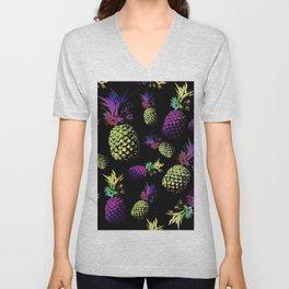 pineapple pattern Unisex V-Neck