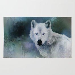 White Wolf Winter Rug