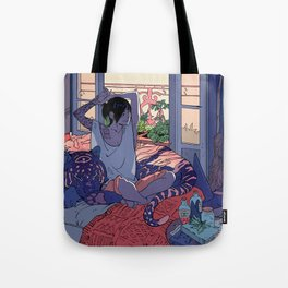 Witch and the Night and Day tiger Tote Bag