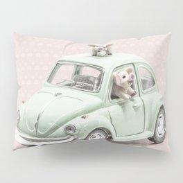 Road Pig on Pink Pillow Sham
