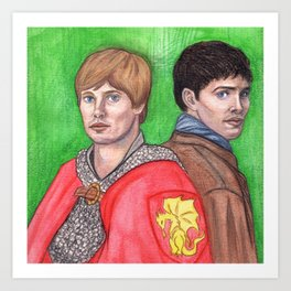 Merlin and Arthur Art Print
