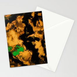 Interruption yellow Stationery Cards