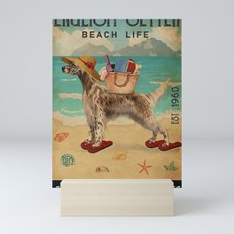Beach Life Sandy Toes English Setter dog Mini Art Print