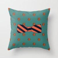 teacher Throw Pillows featuring Kindergarten Teacher by Jessica