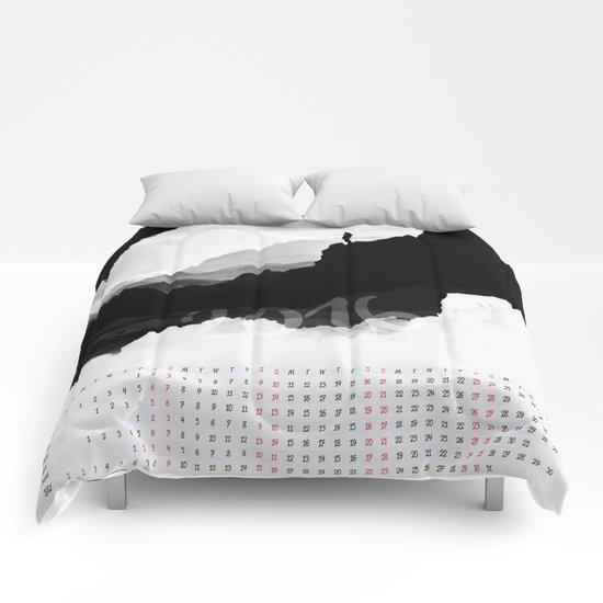 White Isolation 2016 Calendar Comforters