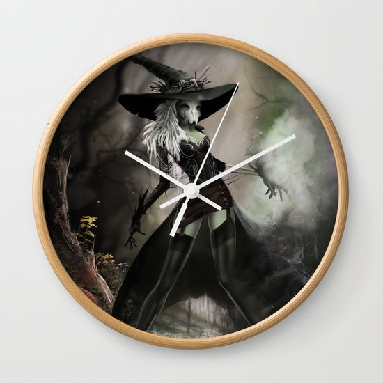 Witch Of Pendle Wall Clock
