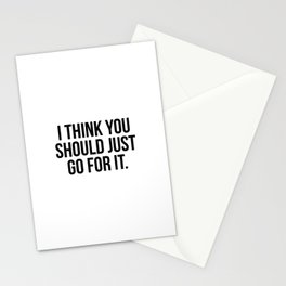 I think you should just go for it Stationery Cards