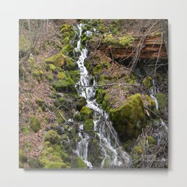 Flowing Spring down the mountainside... Metal Print
