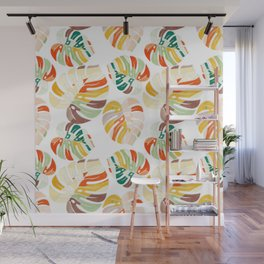 leaves seamless mid century pattern Wall Mural