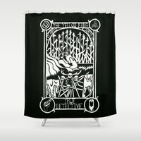 true detective Shower Curtains featuring True Detective Poster by Julia Ermlich