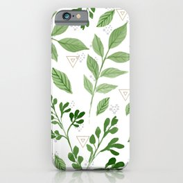 Plants with triangles iPhone Case