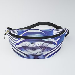 9665s-KMA_5201 Powerful Blue Woman Open Free Striped Sensual Sexy Abstract Nude Fanny Pack
