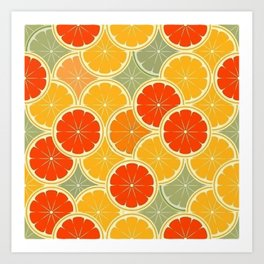 Summer Citrus Slices Art Print