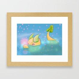 Bubble Bath Dragon Rug Framed Art Print