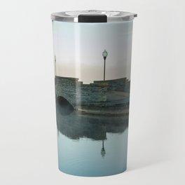 Cazenovia Lake On A Misty Morning Travel Mug