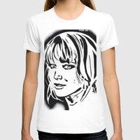 jennifer lawrence T-shirts featuring Jennifer Lawrence Stencil Portrait by Lucky art